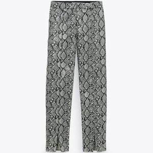 Zara Faux Coated Snake Skin Pants